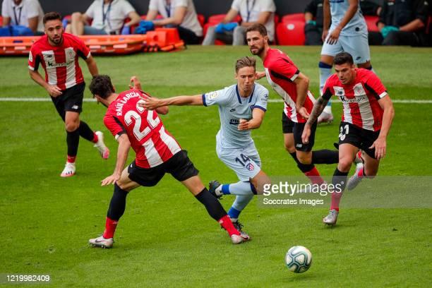 Raul Garcia of Athletic Bilbao Unai Lopez of Athletic Bilbao Marcos Llorente of Atletico Madrid Ander Capa of Athletic Bilbao Yeray of Athletic...