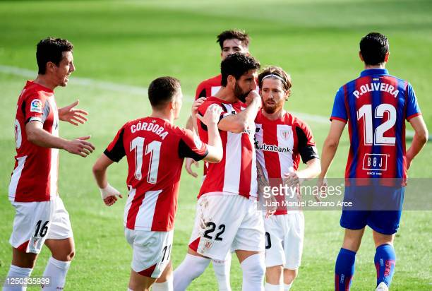 Raul Garcia of Athletic Club celebrates after scoring goal during the Liga match between SD Eibar SAD and Athletic Club at Ipurua Municipal Stadium...