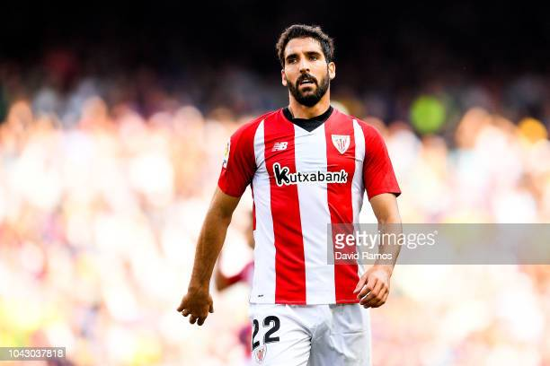 Raul Garcia of Athletic Club looks on the La Liga match between FC Barcelona and Athletic Club at Camp Nou on September 29 2018 in Barcelona Spain