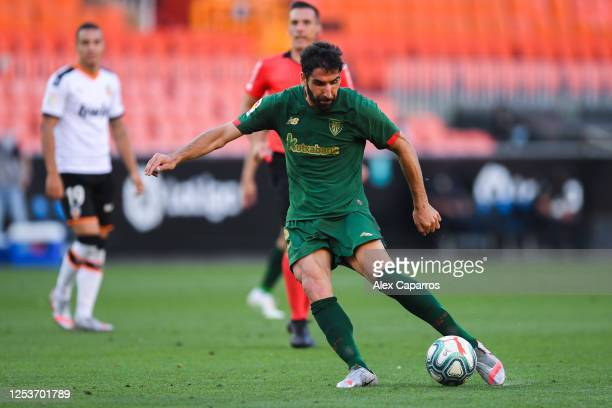 Raul Garcia of Athletic Club scores his team's second goal during the Liga match between Valencia CF and Athletic Club at Estadio Mestalla on July 01...