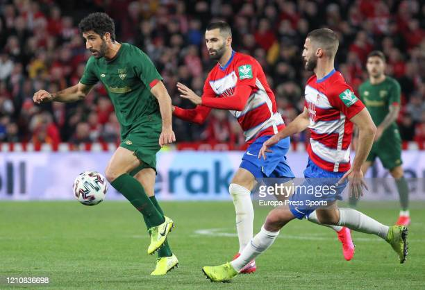 Raul Garcia of Athletic de Bilbao in action during the Spanish Cup Copa del Rey football match played between Granada CF and Athletic Club Bilbao at...