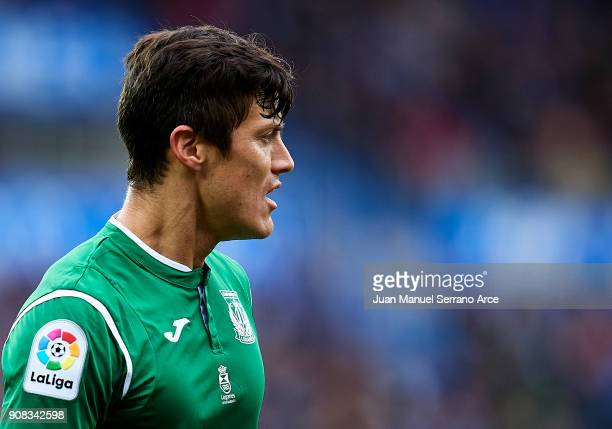 Raul Garcia of Club Deportivo Leganes reacts during the La Liga match between Deportivo Alaves and Club Deportivo Leganes at Mendizorroza stadium on...