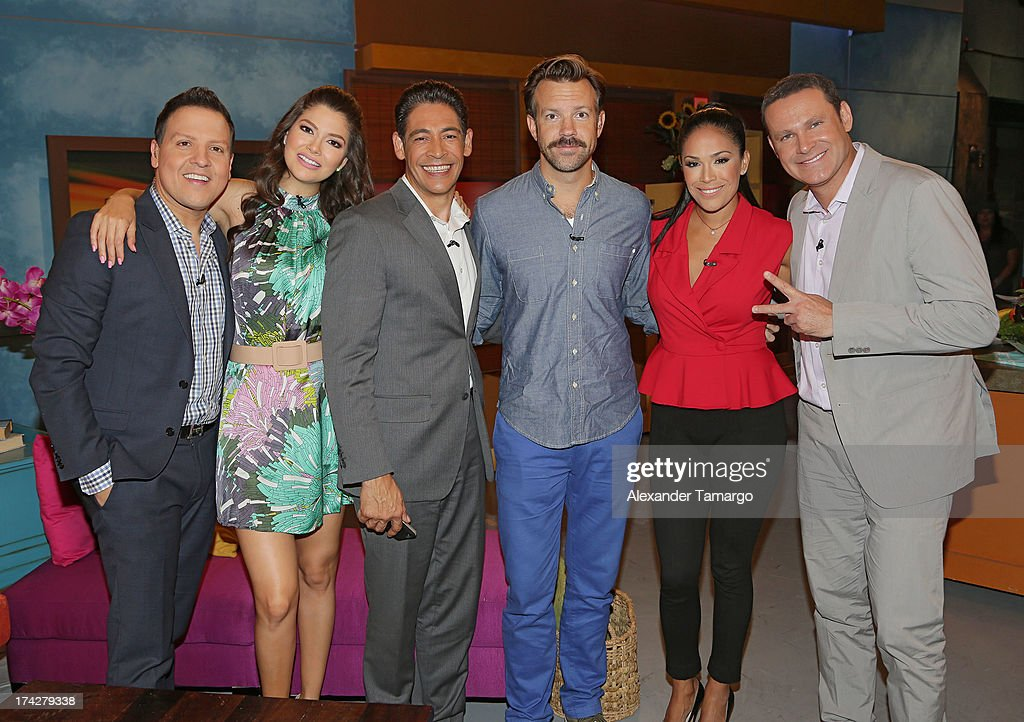 Raul Gonzalez, Ana Patricia, Johnny Lozada, Jason Sudeikis, Karla Martinez and Alan Tacher visits Univisions Despierta America at Univision Headquarters on July 23, 2013 in Miami, Florida.