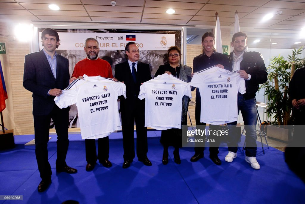 Real Madrid Football Players Promote a Fundraising Event for Haiti