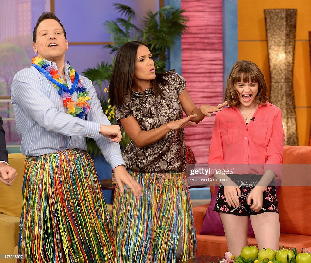 Raul Gonzalez,Karla Martinez and Joey King visits Univisions 'Despierta America at Univision Headquarters on July 10, 2013 in Miami, Florida.
