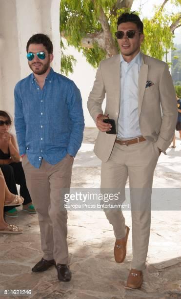 Raul Jimenez attends the wedding of Guillermo Ochoa and Karla Mora on July 8, 2017 in Ibiza, Spain.