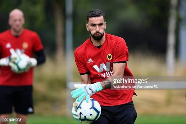 Raul Jimenez new Loan signing at Sir Jack Hayward Training Ground on July 18 2018 in Wolverhampton England