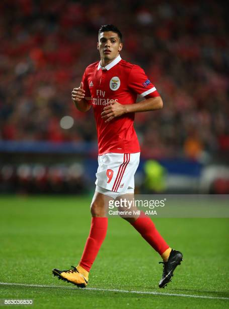 Raul Jimenez of Benfica during the UEFA Champions League group A match between SL Benfica and Manchester United at Estadio da Luz on October 18 2017...