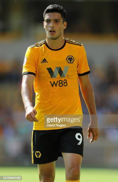 Raul Jimenez of Wolverhampton Wanderers looks on during the preseason friendly match between Wolverhampton Wanderers and Villareal at Molineux on...