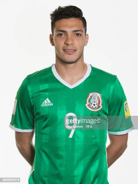 Raul Jimenez poses for a picture during the Mexico team portrait session on June 14 2017 in Kazan Russia