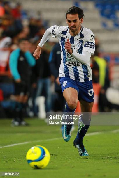 Raul Lopez of Pachuca runs for the ball during the 7th round match between Pachuca and Tijuana as part of the Torneo Clausura 2018 Liga MX at Hidalgo...