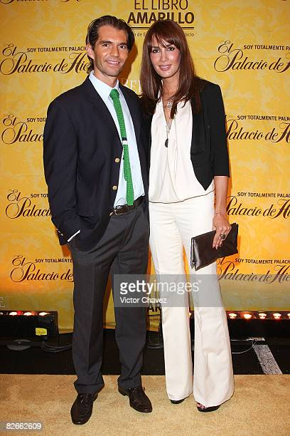Raul Martinez Ostos and actress Martha Cristiana attends the launch of El Palacio de Hierro The Yellow Book Autumn/Winter 2008 at Campo Marte on...