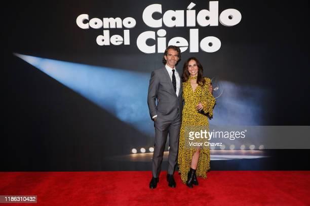 Raul Martinez Ostos and Ana Serradilla attend the red carpet of Netflix film Como Caido del Cielo at Cinemex Antara Polanco on December 3 2019 in...