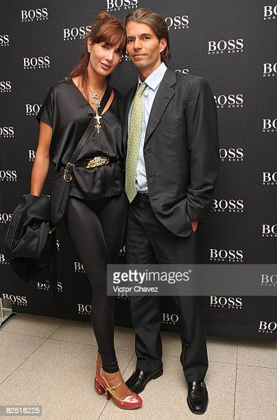 Raul Martinez Ostos and Martha Cristiana attends the Hugo Boss Collection at The Hippodrome Hotel on August 21 2008 in Mexico City