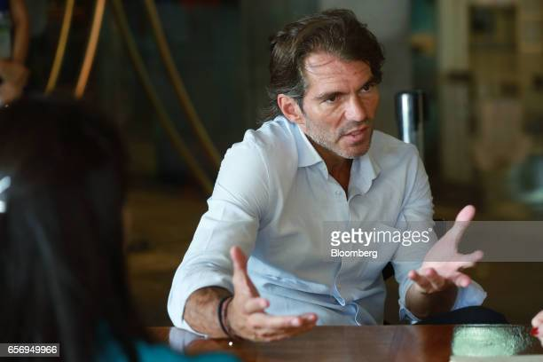 Raul MartinezOstos country manager for Barclays Bank Mexico SA speaks during an interview on the sidelines of the 80th annual Mexican Banking...