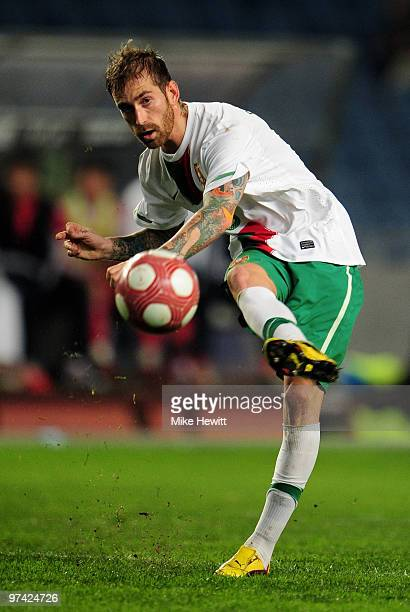 Raul Meireles of Portugal in action during the International Friendly match between Portugal and Republic of China at the City of Coimbra Stadium on...