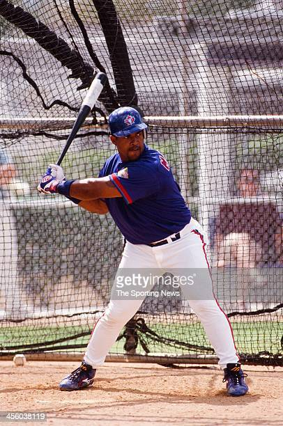 Raul Mondesi of the Toronto Blue Jays during Spring Training on February 27 2000