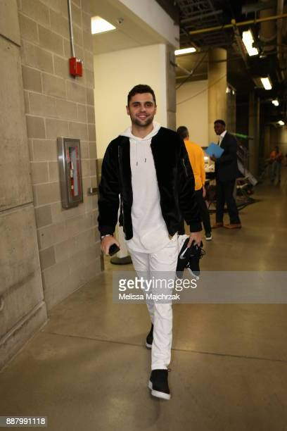 Raul Neto of the Utah Jazz arrives to the arena prior to the game against the Houston Rockets on December 7 2017 at VivintSmartHome Arena in Salt...