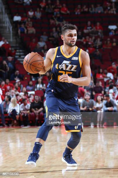Raul Neto of the Utah Jazz handles the ball against the Houston Rockets on November 5 2017 at the Toyota Center in Houston Texas NOTE TO USER User...