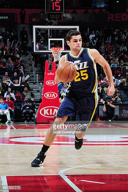 Raul Neto of the Utah Jazz handles the ball during the game on November 15 2015 at Philips Center in Atlanta Georgia NOTE TO USER User expressly...
