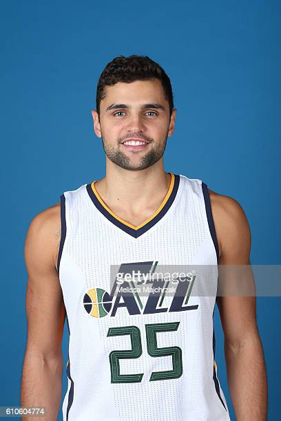 Raul Neto of the Utah Jazz poses for a headshot during 20162017 Utah Jazz Media Day at Zions Bank Basketball Center on September 26 2016 in Salt Lake...