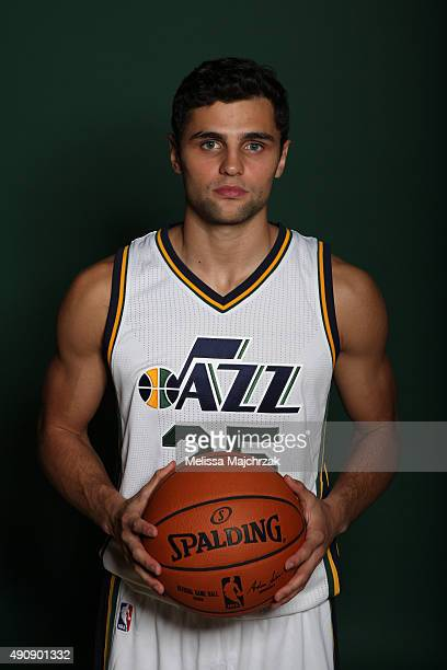 Raul Neto of the Utah Jazz poses for a photo during Media Day at Zions Basketball Center on September 28 2015 in Salt Lake City Utah NOTE TO USER...