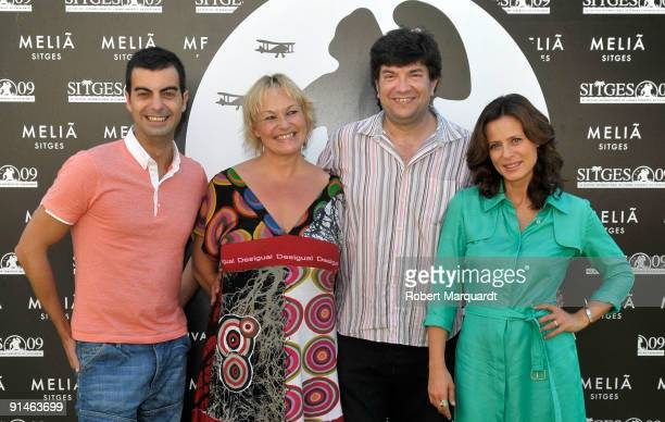 Raul Perales Eva Morkeset Ferran Audi and Aitana SanchezGijon attend the photocall and press conference for the 'The Frost' at the 42nd Sitges Film...