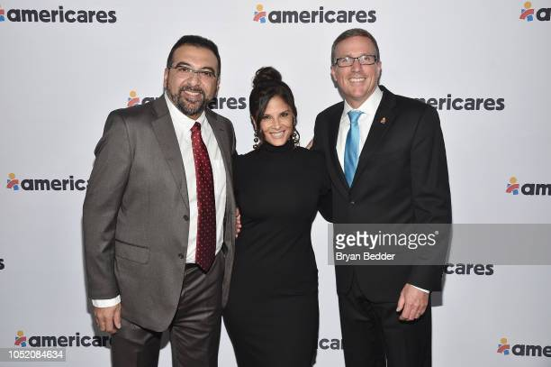 Raul Pineda Darlene Rodriguez and Michael Nyenhuis attend the 2018 Americares Airlift Benefit on October 13 2018 in White Plains New York
