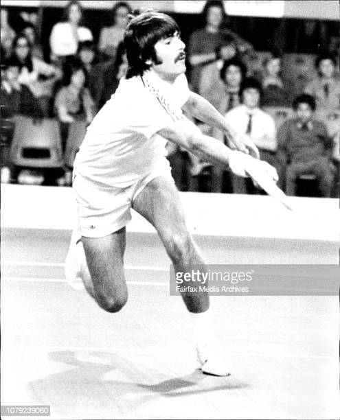 Raul Ramirez playing C Letcher Custom Credit Indoor Tennis Championships at the Hordern Pavilion October 14 1975