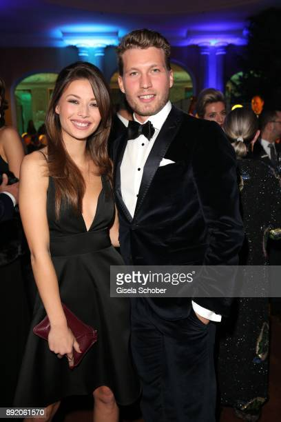 Raul Richter and actress Lena Meckel during the Audi Generation Award 2017 at Hotel Bayerischer Hof on December 13 2017 in Munich Germany