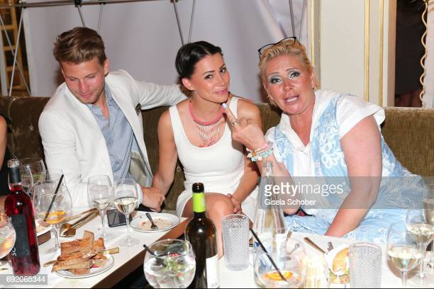 Raul Richter and his girlfriend Jessy and Claudia Effenberg during the Zhero hotel and 'Bahia Mediterraneo' restaurant opening on June 3 2017 in...