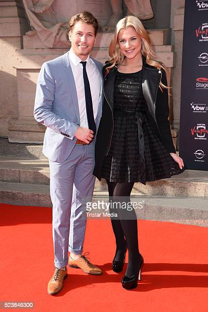 Raul Richter and his girlfriend Valentina Pahde attend the 'Tanz der Vampire' Musical Premiere on April 24 2016 in Berlin Germany