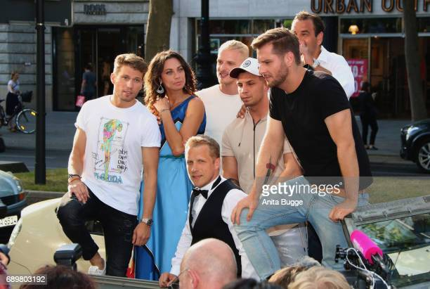 Raul Richter Lilly Becker Mario Galla Pietro Lombardi Ulf Kirsten Maurice Gajda and Olli Pocher attend the 'Global Gladiators' exclusive preview at...