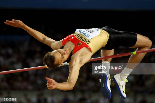 Raul Spank of Germany competes during the men's high jump final during day six of the 13th IAAF World Athletics Championships at the Daegu Stadium on...