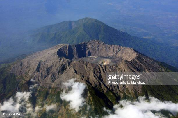 raung volcano east java indonesia - caldera stock pictures, royalty-free photos & images