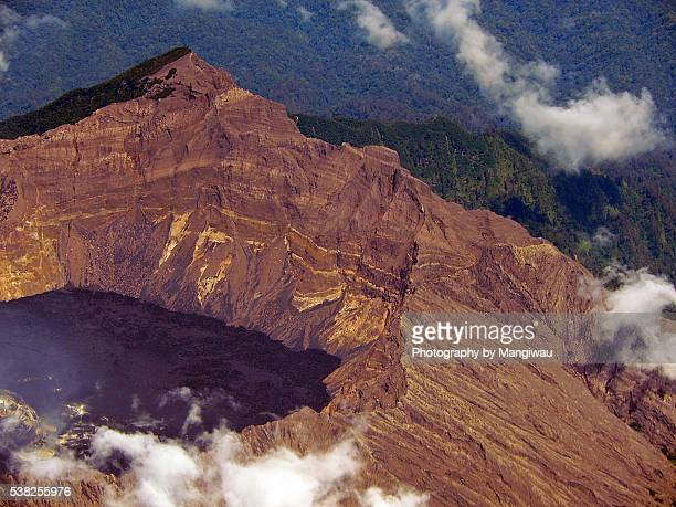 raung volcano - plate tectonics stock photos and pictures