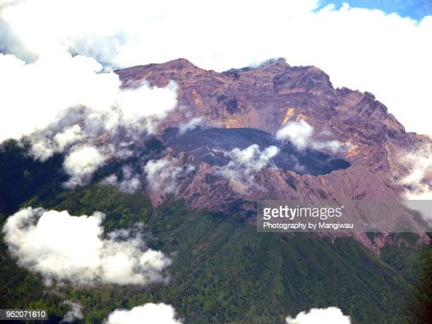 raung volcano - caldera stock pictures, royalty-free photos & images