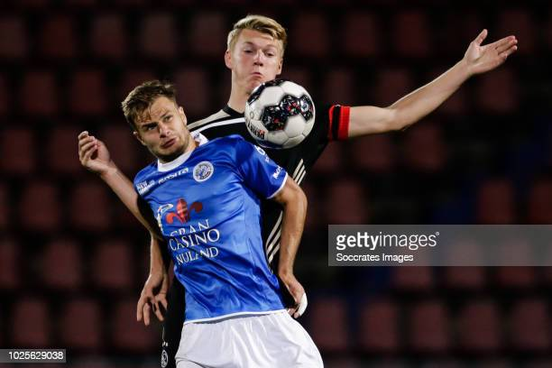 Rauno Sappinen of FC Den Bosch, Perr Schuurs of Ajax U23 during the Dutch Keuken Kampioen Divisie match between FC Den Bosch v Ajax U23 at the...