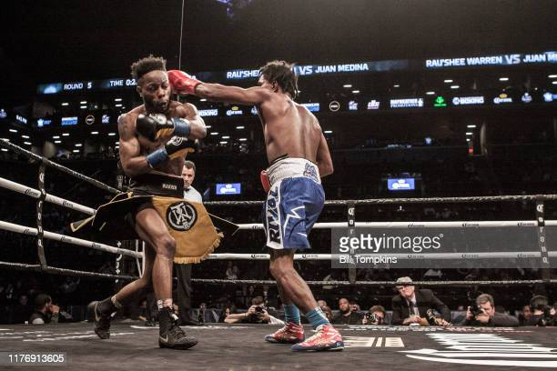 Rau'shee Warren defeats Juan Medina by Unaimous Decsion in their Bantamweight fight at Barclays Center on April 21, 2018 in Brooklyn.