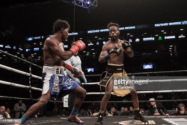 Rau'shee Warren defeats Juan Medina by Unaimous Decsion in their Bantamweight fight at Barclays Center on April 21 2018 in Brooklyn