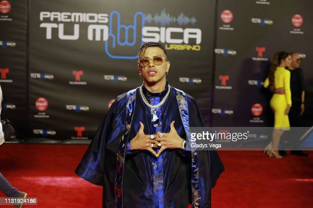 Rauw Alejandro arrives to Premio Tu Musica Urbano at Coliseo Jose M Agrelot on March 21 2019 in San Juan Puerto Rico