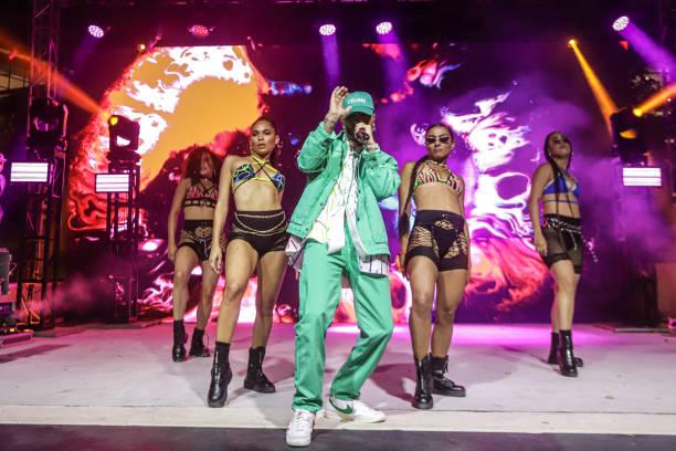 FL: Rauw Alejandro Performs At Miami's Oasis