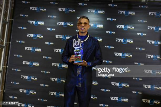Rauw Alejandro receives the New Urban Artist Award as part of 2019 Premios Tu Musica Urbano at Coliseo Jose M Agrelot on March 21 2019 in San Juan...