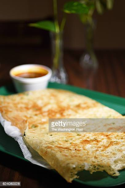 Rava Sada Dosa an Indian crepe is on the menu at the Balaji Cafe in Herndon VA November 14 2016 The dish is usually flavored with cumin seeds cashew...