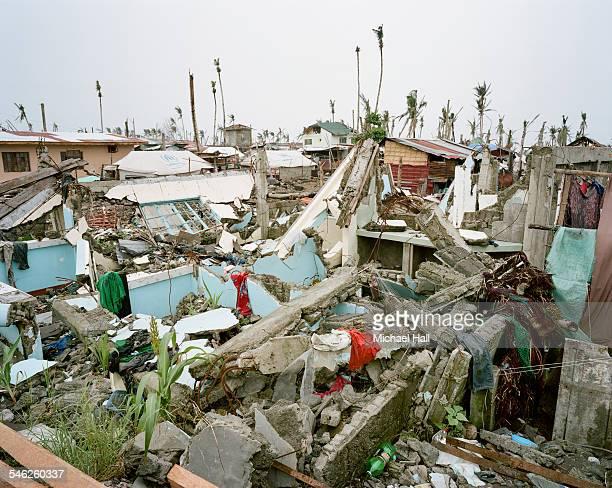 Ravaged community following typhoon