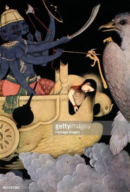 Ravana fighting with Jatayu 1913 A scene from the Hindu epic the Ramayana Jatayu a demigod in the form of a vulture fighting Ravana the most powerful...
