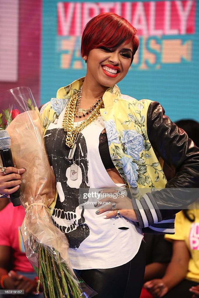 RaVaughn visits BET's '106 & Park' at BET Studios on February 21, 2013 in New York City.