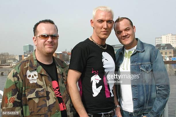 Rave-Band, Popgruppe, DRick J.Jordan, H.P. Baxxter und Axel Coon in BerlinPorträt