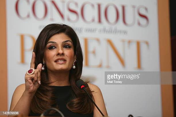 Raveena Tandon at the launch of New York based psychologist Shefali Tsabary's book The Conscious Parent' at the India Habitat Centre on 11 April 2012
