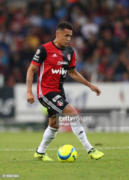Ravel Morrison drives the ball during the 5th round match between Atlas and Cruz Azul as part of the Torneo Clausura 2018 Liga MX at Jalisco Stadium...